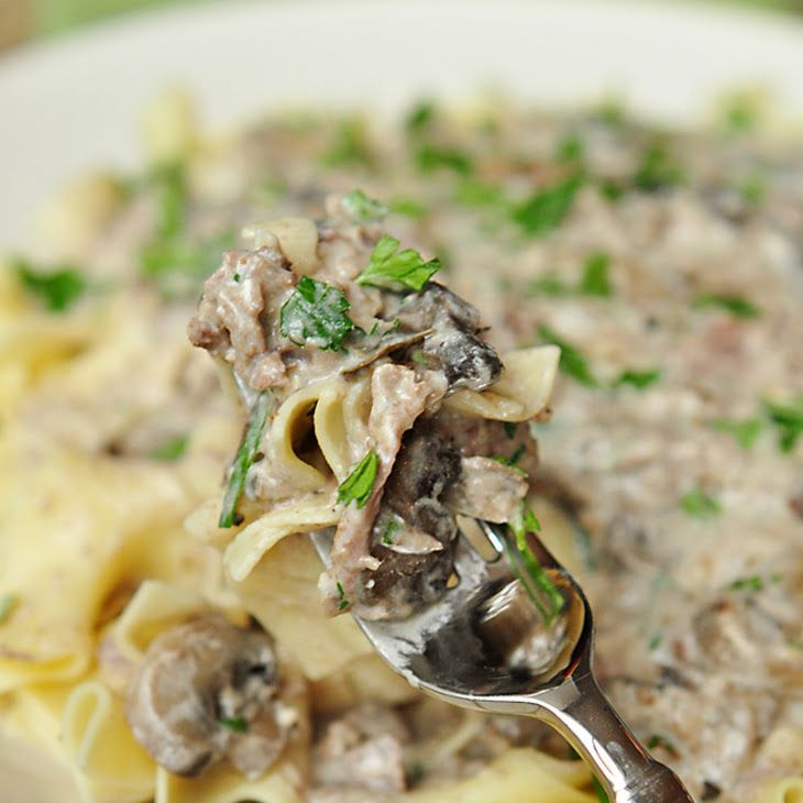 Slow Cooker Ground Beef Stroganoff Recipe: Slow Cooker Beef Stroganoff