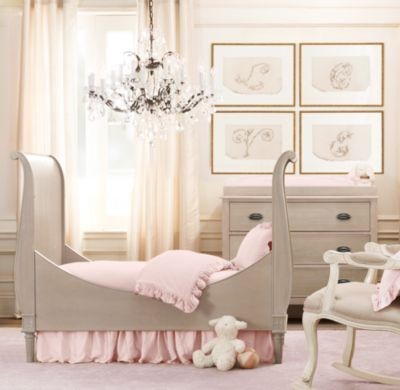 Wonderful RH Baby U0026 Childu0027s Emelia Sleigh Toddler Bed Conversion Kit:The Streamlined,  Neoclassic Design Of Our Emelia Collection Finds Its Feminine Grace With  Tapered ... Good Ideas