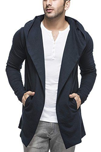 Tinted Men's Cotton Blend Hooded Cardigan TJ5401-NAVY-L_MERCHANT ...