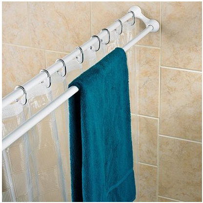 Problem Solvers 10 Uniquely Shaped Shower Curtain Rods With