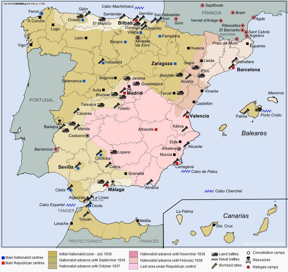 the general history of spain Islamic spain was a multi-cultural mix of islamic spain (711-1492) musa responded by sending the young general tariq bin ziyad with an army of 7000.