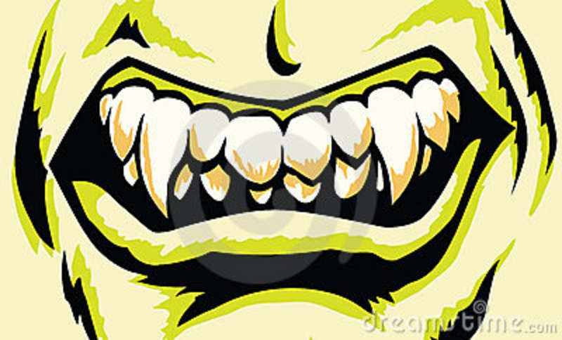 Scary Monster Teeth Monster Mouth Scary Monsters Mouth Drawing