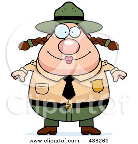 Clipart of a Friendly Caucasian Male Park Ranger Presenting - park ranger resume