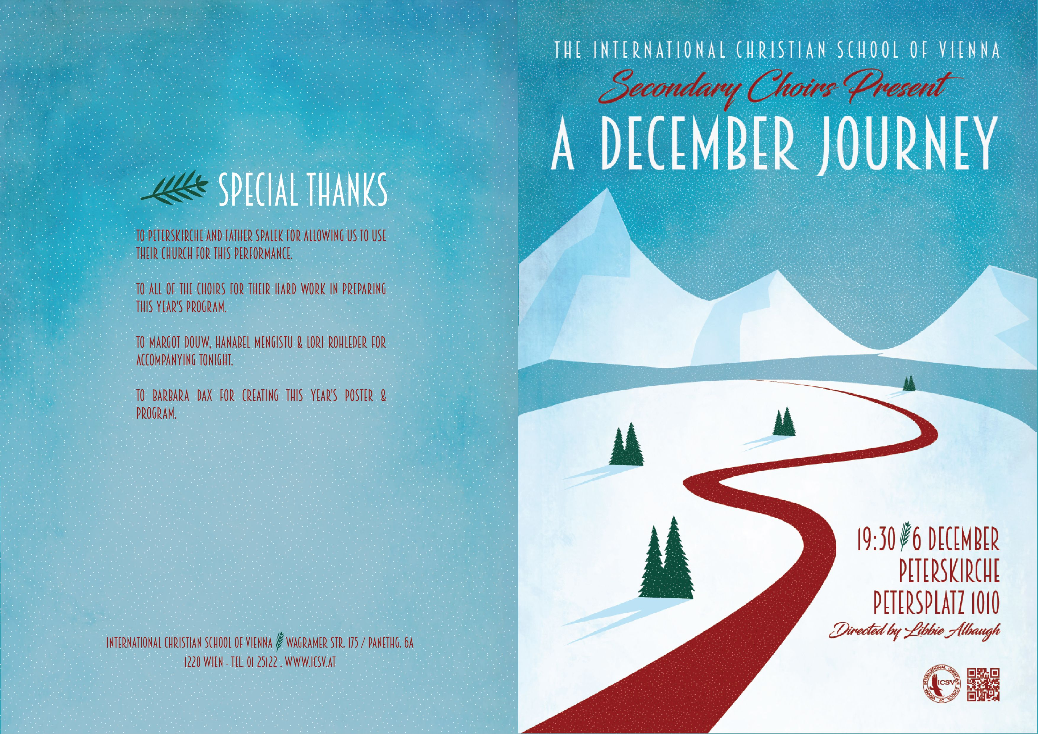 Icsv Secondary Christmas Concert Program  Graphics