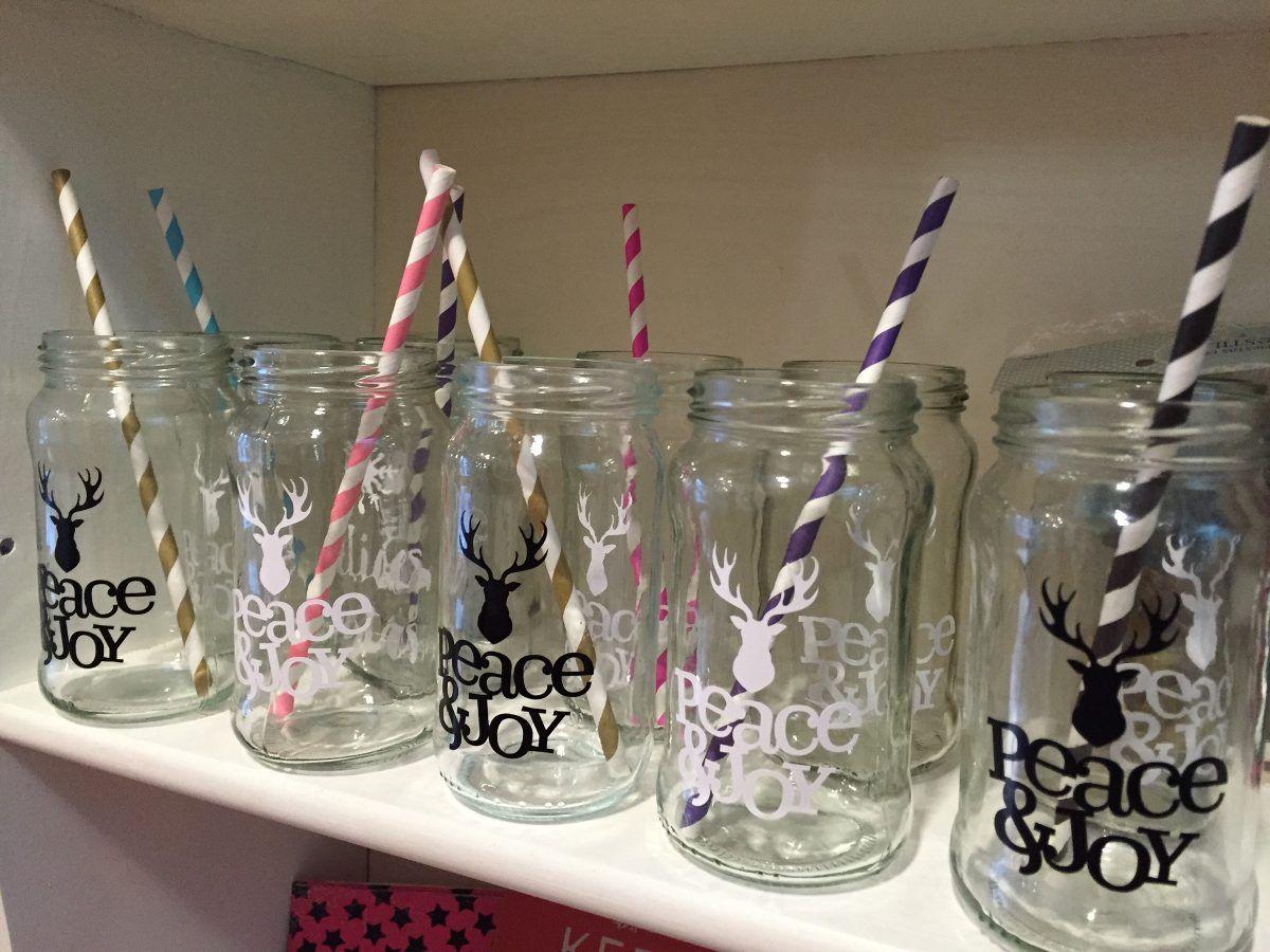 Vasos frascos de vidrio con sorbete c vinilo for Envases de vidrio decorados