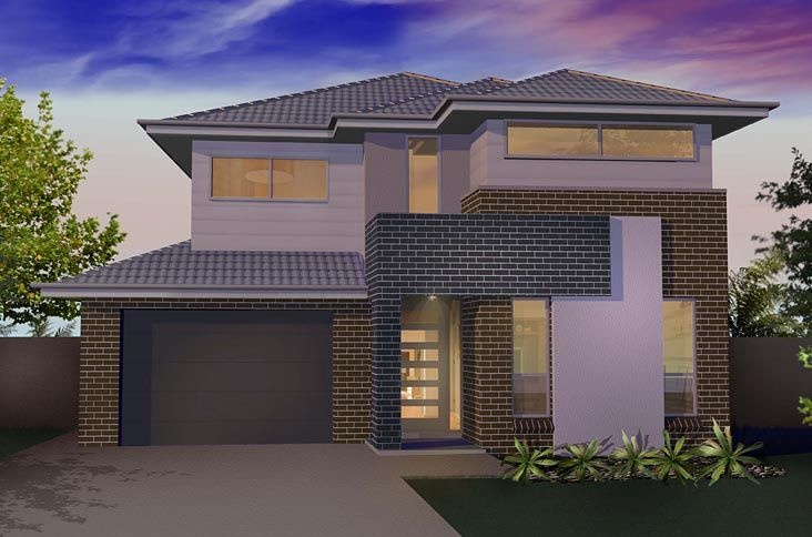 Double Storey Facade Mix Of Bricks Render And Feature Blade