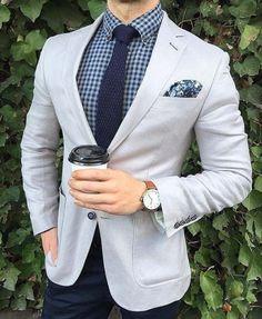 Watch combines for gray men suits