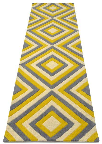 aaa4fb7ad3f7 A custom hand tufted pure wool rug in lemon yellow
