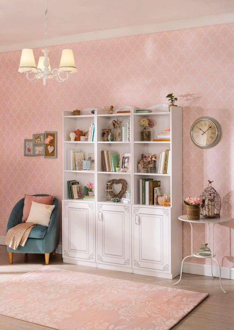Emily boekenkast meisjeskamer kinderkamer | Babykamers ...