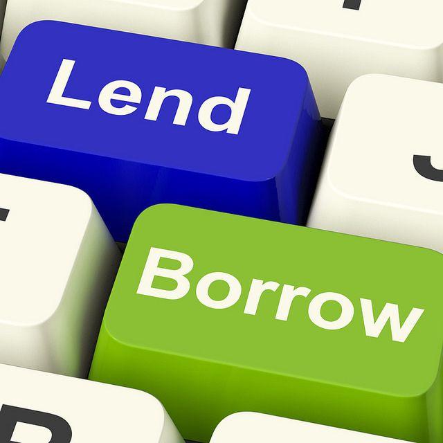 Sge Loans Lend And Borrow Keys Showing Borrowing Or Lending On