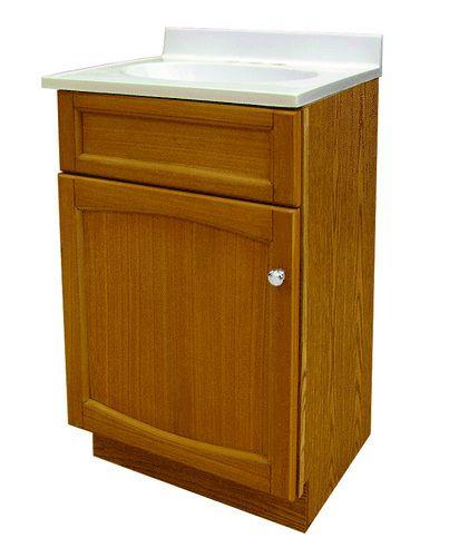 Woodhaven 18 x 16 Oak Vanity Combo at Menards Bathroom ideas