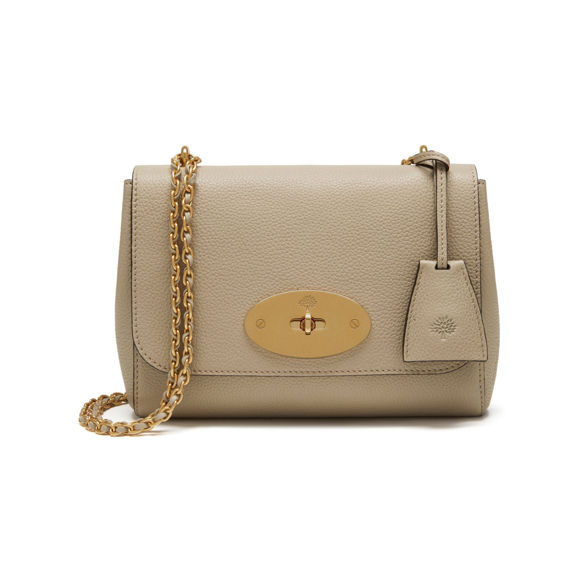 b645ed1b05c Brown Handbags. Paper Bags. Leather Totes. Shop the Lily in Dune Small Classic  Grain at Mulberry.com. The Lily is