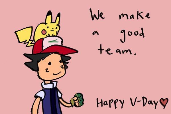 Ash Ketchum Pokemon Valentine Holidays Valentines Pinterest