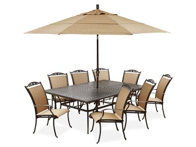 Bellagio Sling 9 Pc Aluminum Dining Set Porch Furniture Porch
