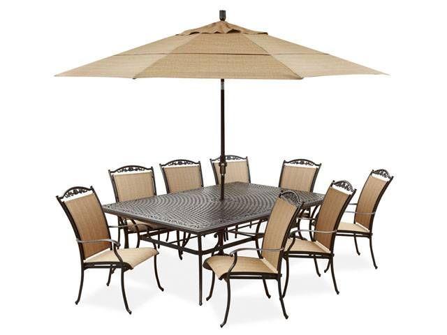 Beautiful Bellagio Sling 9 Pc. Dining Set | Fortunoff Backyard Store
