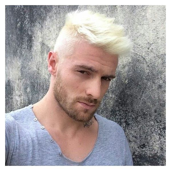Fashion Style Platinum Blonde Hair For Men Liked On Polyvore