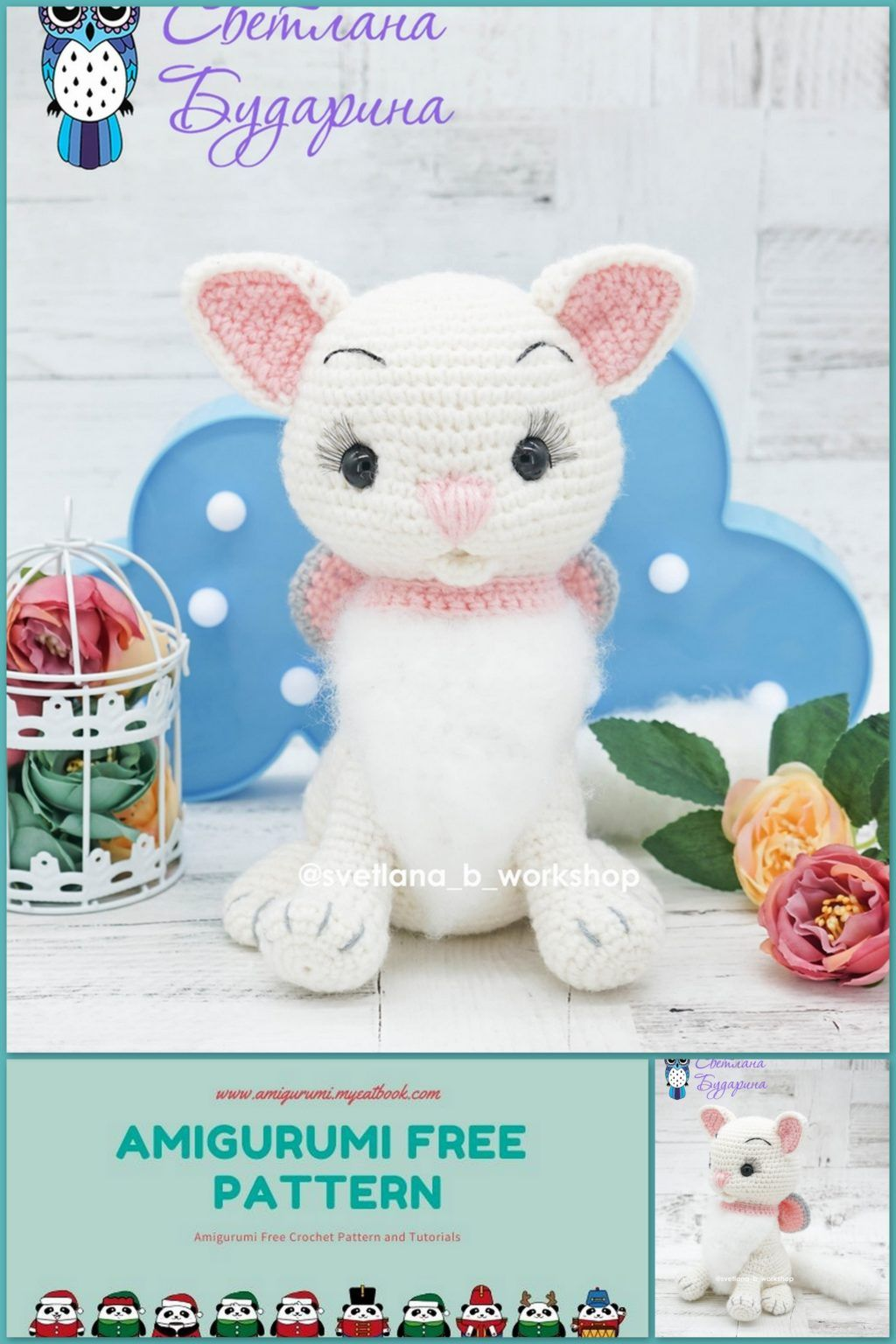 Cute Kitty Cat amigurumi pattern by DIY Fluffies | Gatos de crochê ... | 1536x1024