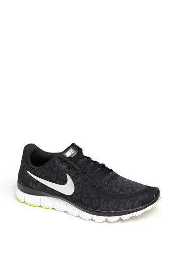 751d5cae984d0 Nike  Free 5.0 V4  Running Shoe (Women) available at  Nordstrom - come in  white and dark blue too! love how animal print is even hitting sneakers!
