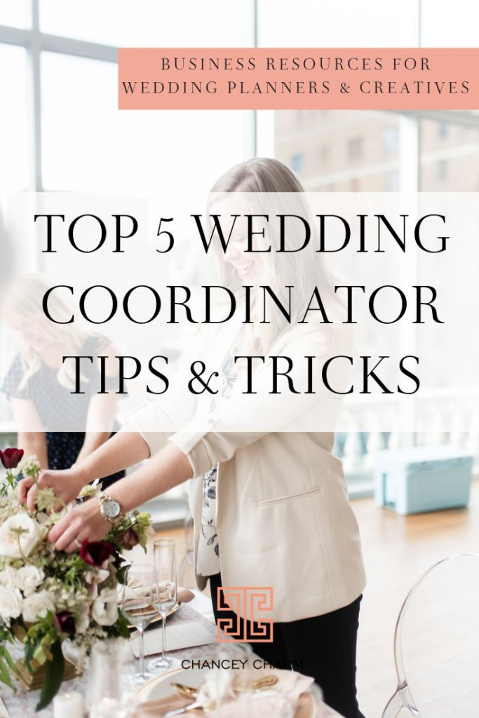 NEW FREE TRAINING: Top 5 Wedding Coordinator Tips & Tricks | Chancey Charm