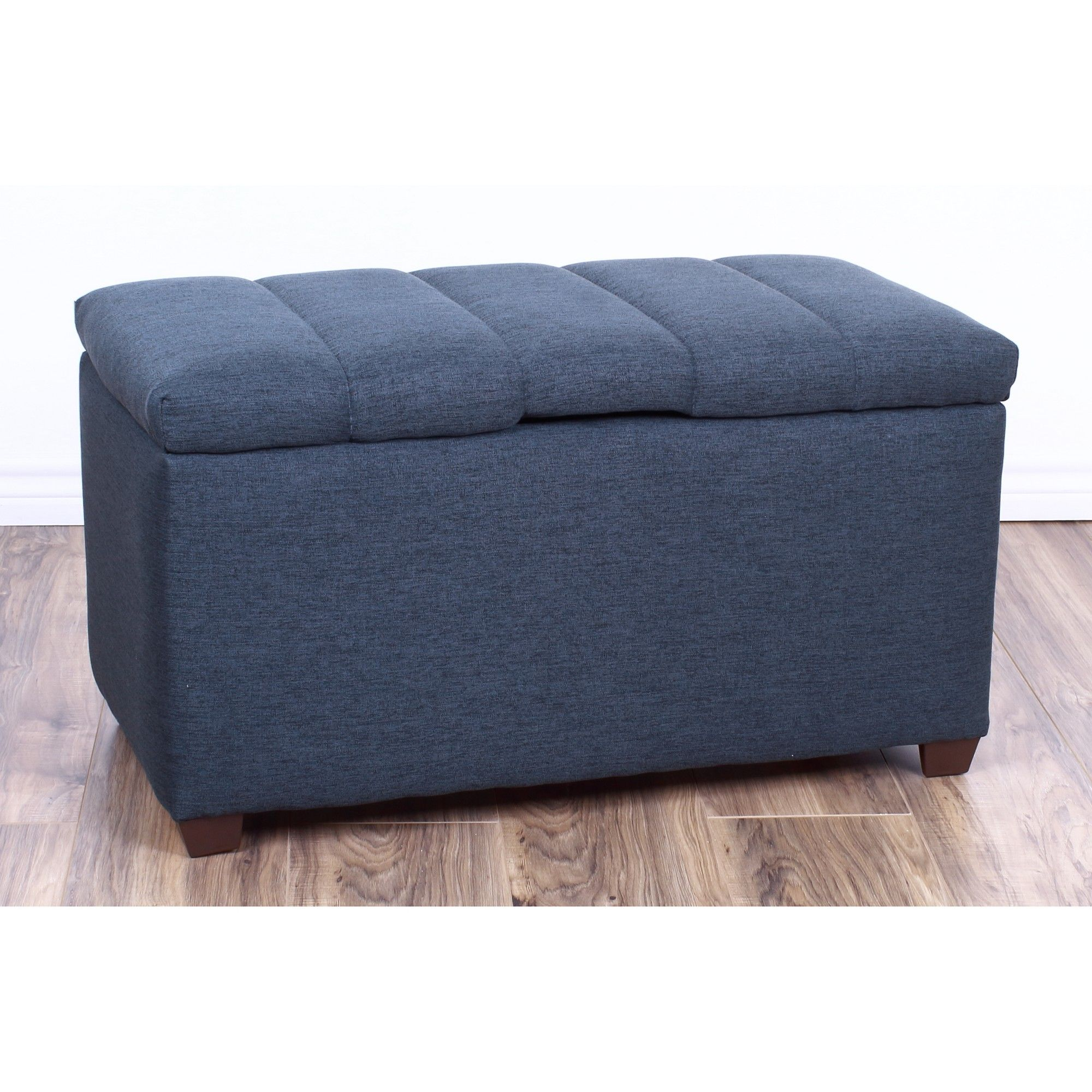 Kids Storage Ottoman Navy Blue The Crew Furniture Gray With Images Storage Ottoman Bench