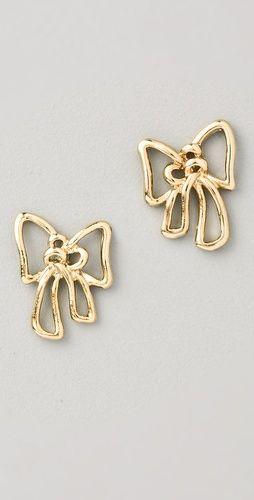 3f213afbf08e4b Marc by Marc Jacobs Metal Bow Stud Earrings
