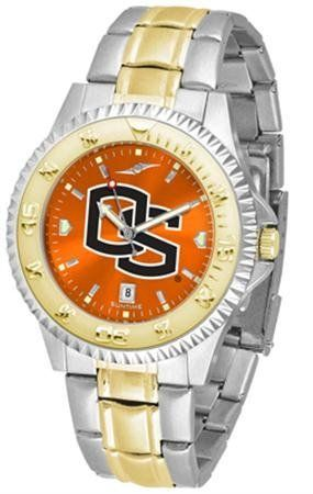 Oregon State Beavers OSU NCAA Mens Two-Tone Anochrome Watch by SunTime. $93.95. AnoChrome Dial Enhances Team Logo And Overall Look. Men. Links Make Watch Adjustable. Officially Licensed Oregon State Beavers Men's Stainless Steel and Gold Tone Watch. Two-Tone Stainless Steel. The perfect balance between sport and prestige. The Competitor AnoChrome with a Two-Tone Band is accented with a gold-plated rotating bezel timer central band links and crown piece. This timepiece is...