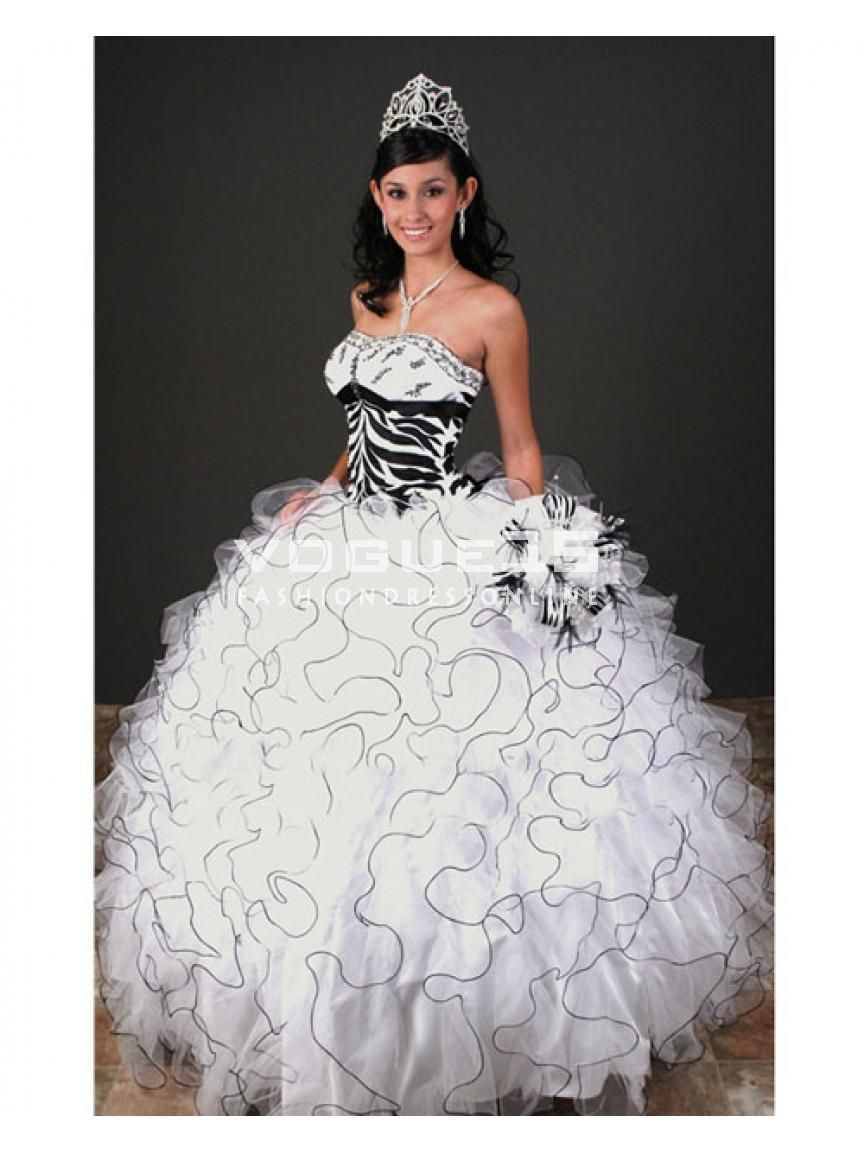 black white quinceanera dresses - Google Search | Sualy\'s 15 Años ...
