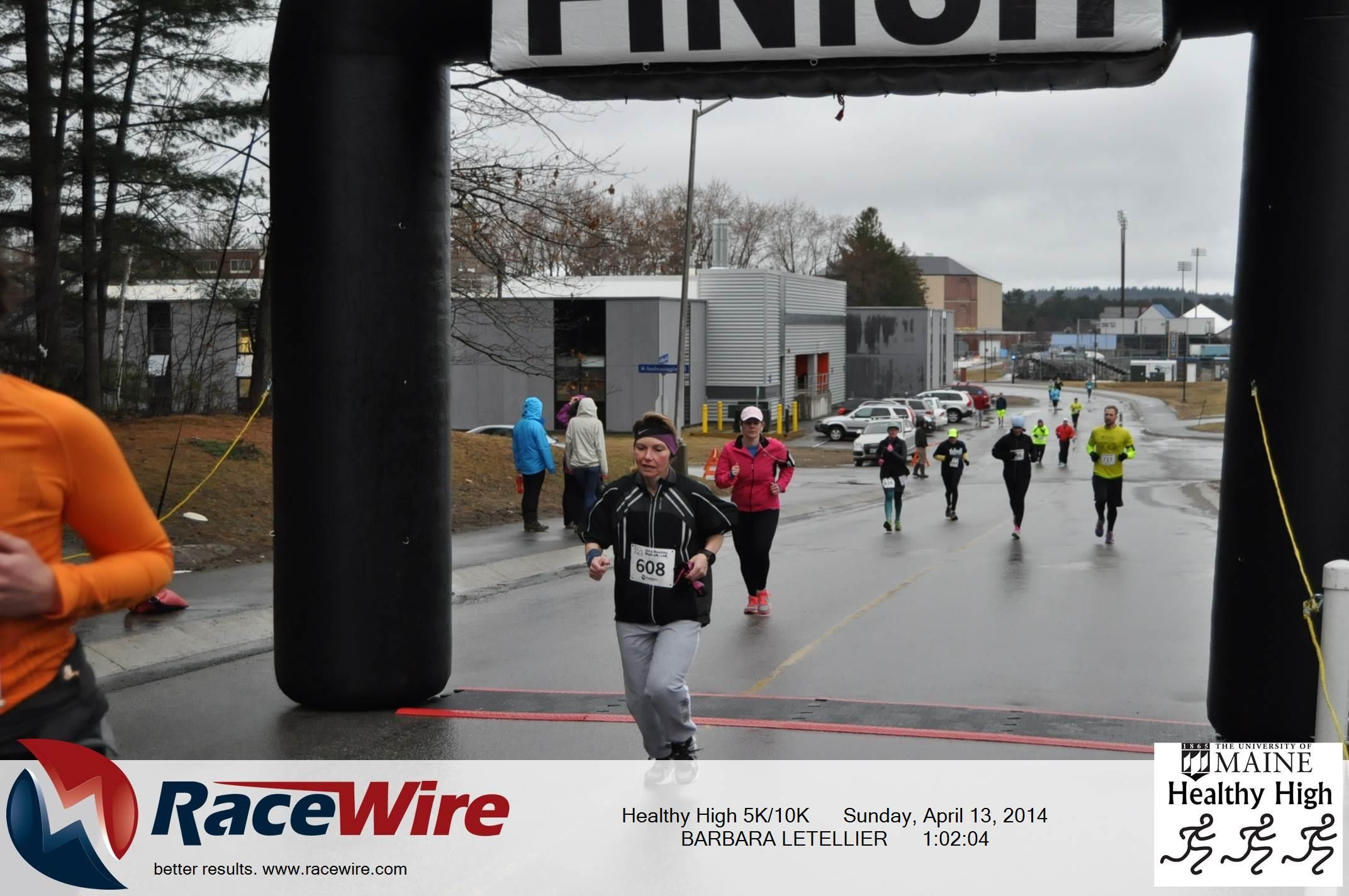 Photos of BARBARA LETELLIER from Race Healthy High 5K/10K on Sunday, April 13, 2014
