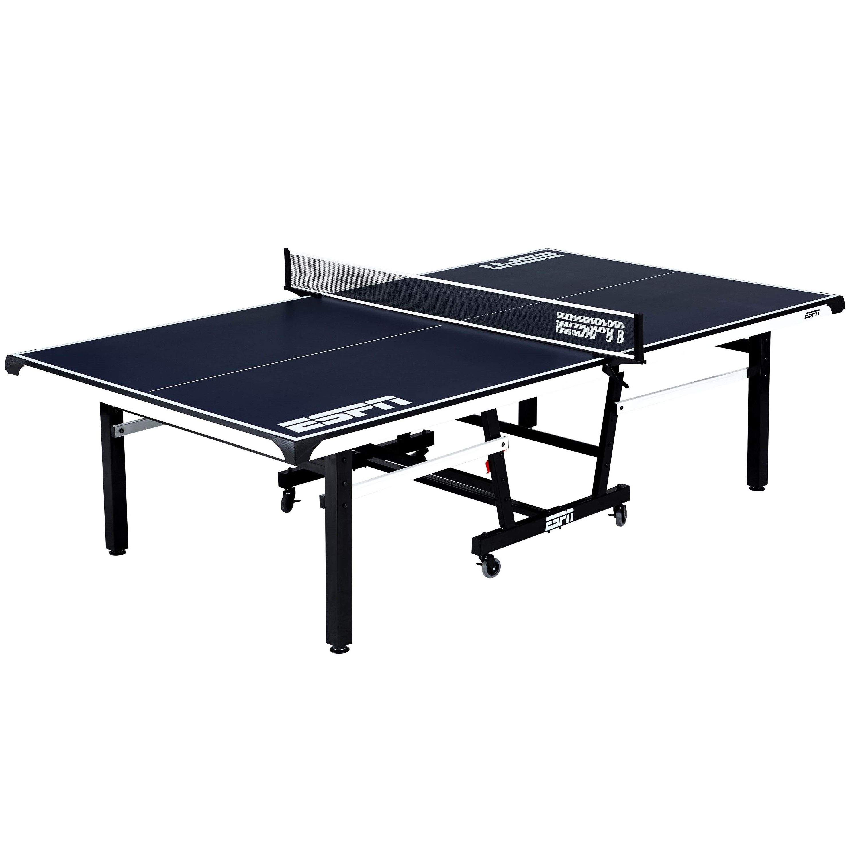 Espn Official Size 18mm 2 Piece Table Tennis Table With Table Cover 1 Indoor Model Walmart Com In 2021 Table Tennis Table Covers Espn