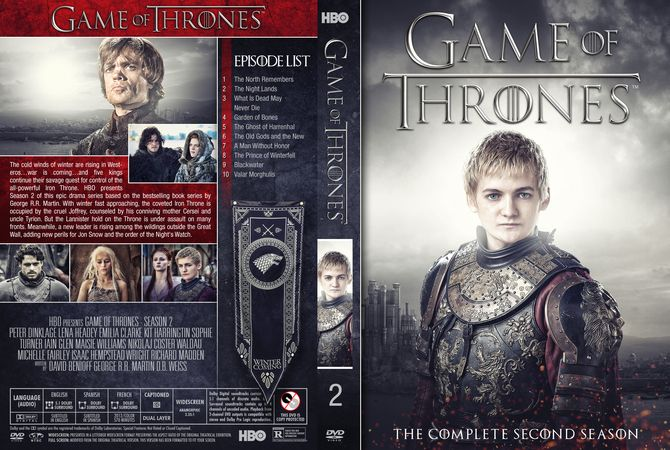 Game Of Thrones Season 2 Dvd Custom Cover Dvd Cover Design