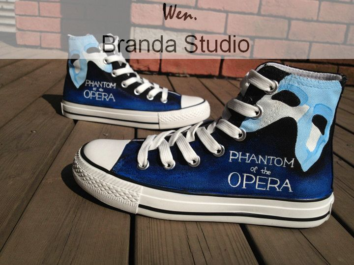 60077a66b15741 The Phantom Of The Opera Inspired Studio Hand Painted Shoes On Custom  Converse Shoes Only One Get One Phone Case Free
