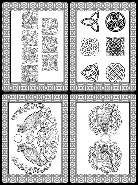 Celtic Coloring Pages Celtic Drawings Printable PDF Celtic Mandala