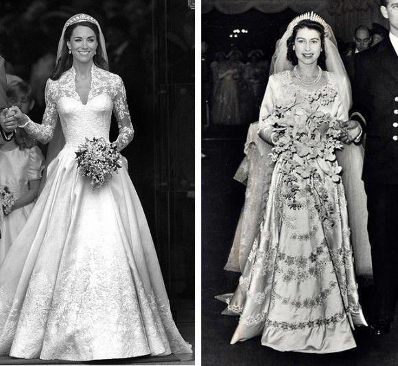 Royal Wedding Dress Kate Middleton And Queen Elizabeth
