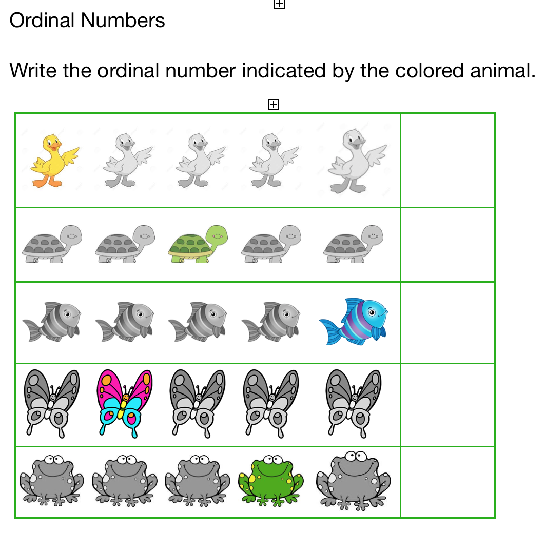 Pond Animals Ordinal Numbers Worksheets Have Your