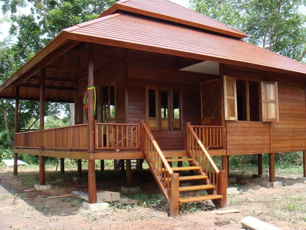 Desain rumah kayu minimalis klasik dan sederhana membangun rumah dapat dibangun dengan bahan - Home sweet home designs ...