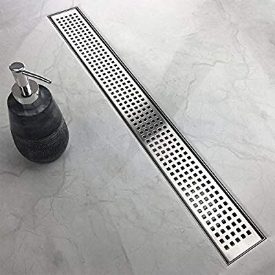 Neodrain 36-Inch Linear Shower Drain with Removable Quadrato ...