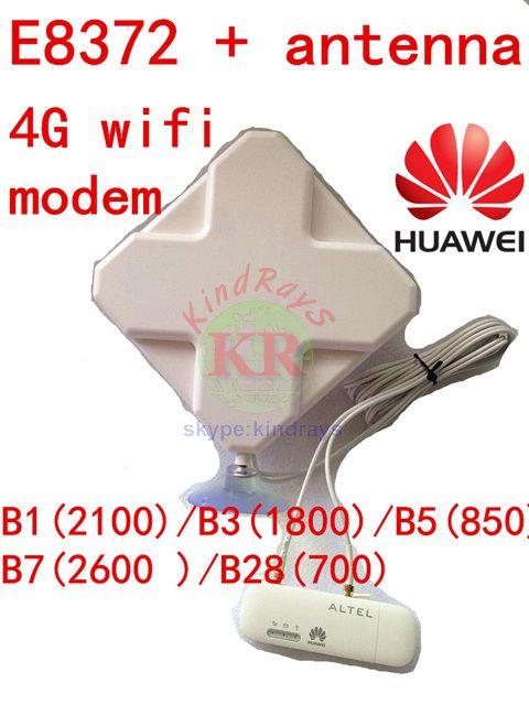 Unlocked Huawei E8372 + 4g antenna 4G usb wifi modem 4g usb wifi