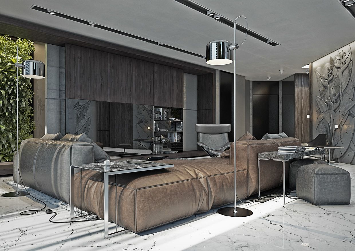 4 Masculine Apartments With Super Comfy Sofas And Sleek C