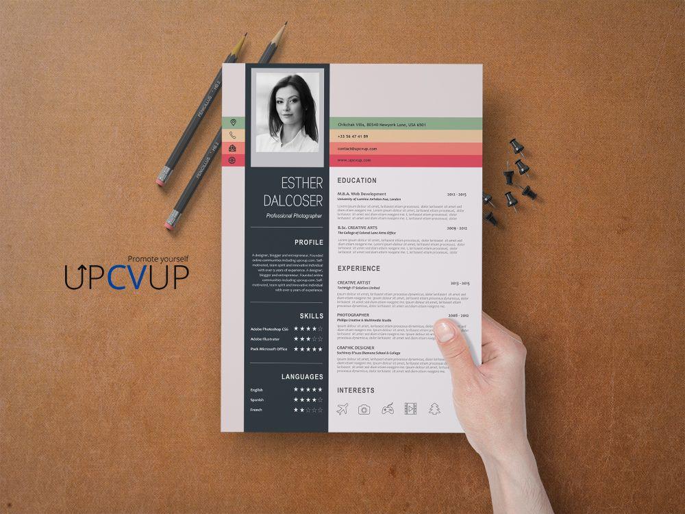 Cv Colore A Telecharger Format Word Cv Moderne Upcvup Cv Colore Exemple Cv Modele Cv