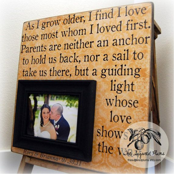Parent Gifts For Wedding Personalized Picture Frame 16x16 As I Grow Older Love Anniversary Father