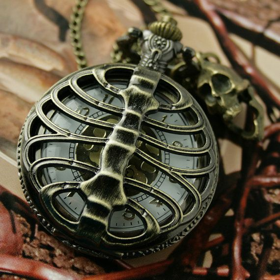 Stile vintage Pocket Watch Collana Steampunk colonna di Chronoskey