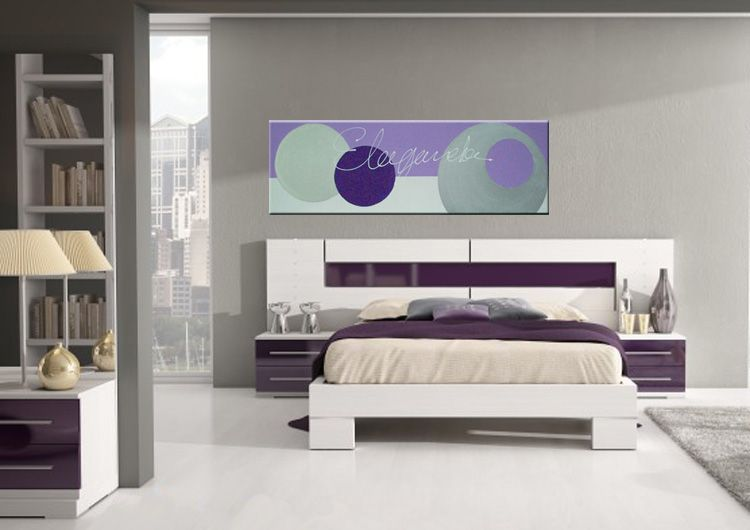 dormitorio morado21 Recamara nias Pinterest
