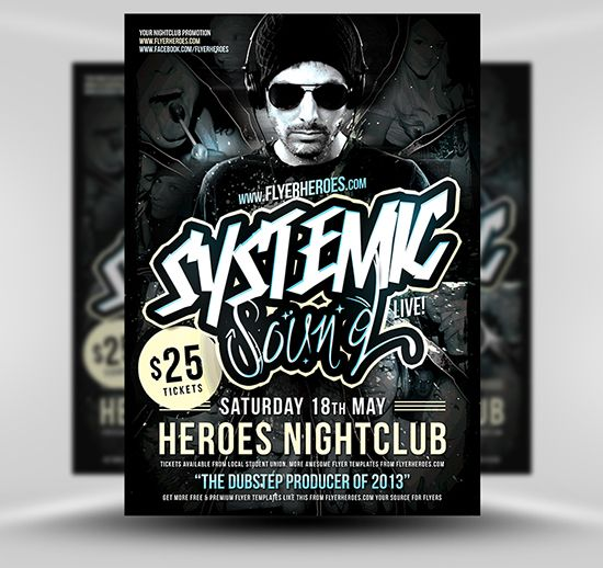 Systemic Flyer Template Free Psd Photoshop Flyer Poster