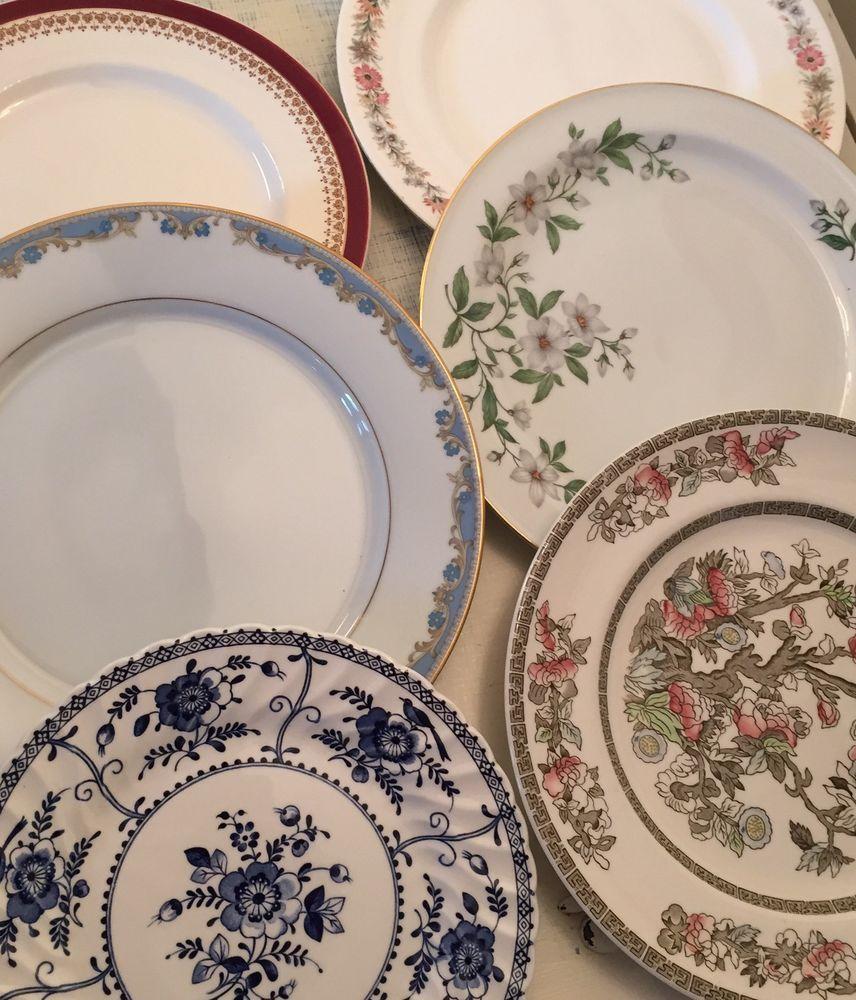 Mix u0026 Match Vintage Dinner Plates - Ideal for Weddings Cafes u0026 Tea Parties & Mix u0026 Match Vintage Dinner Plates - Ideal for Weddings Cafes u0026 Tea ...