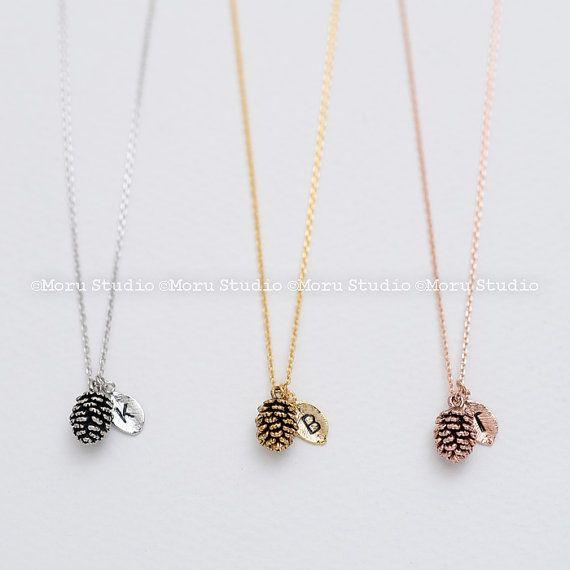 31e04dd2f392 Dainty Pinecone Necklace
