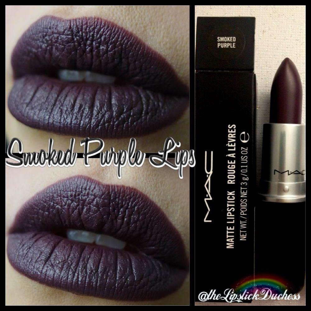 Bien-aimé Mac Smoked Purple Matte Lips | Mac Lipsticks ~ permanent line  OE27