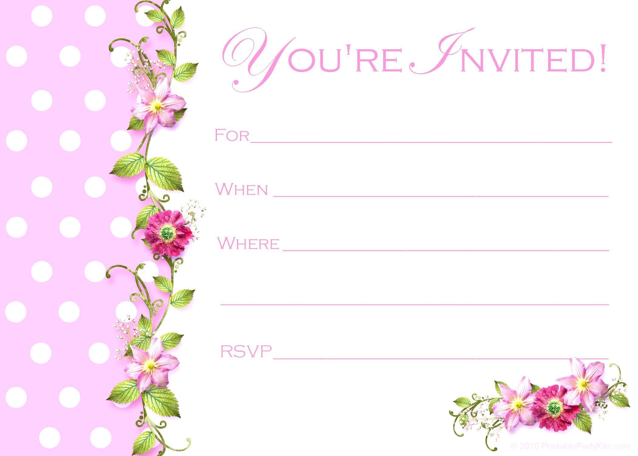 BirthdayInvitationCardTemplatesFree  Birthday Invitations