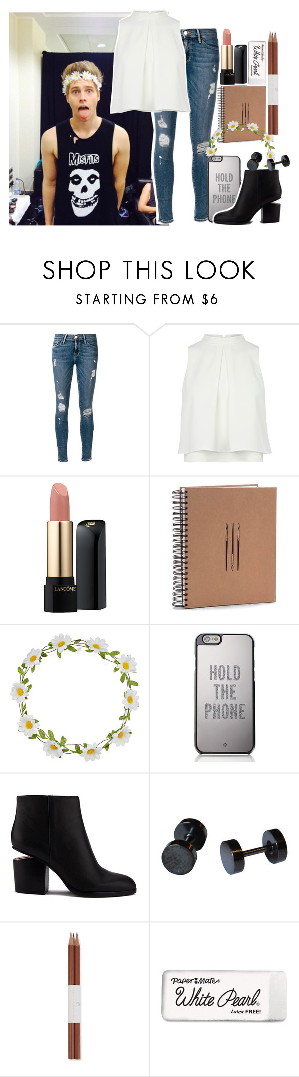 """""""(Really) long imagine below!"""" by kissyoubabe ❤ liked on Polyvore featuring Frame Denim, Lancôme, Carole, Kate Spade, Alexander Wang, Faber-Castell and Paper Mate"""