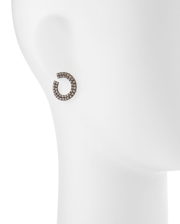 Orion Crystal Hoop Earrings