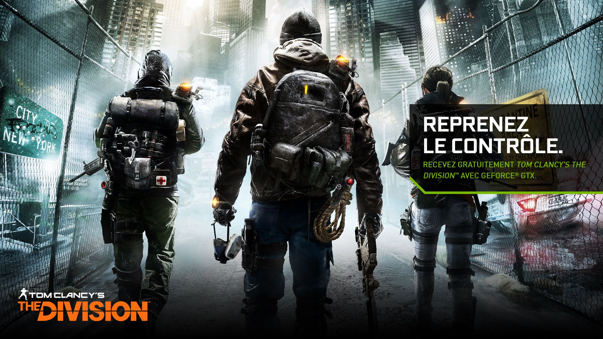 Tom Clancy's The Division, NVIDIA Campaign (Photoshop CC).